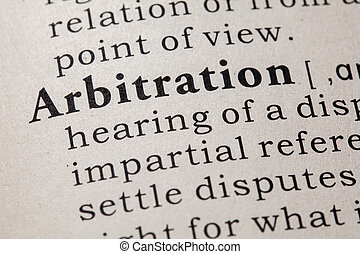 definition of arbitration - Fake Dictionary, Dictionary...