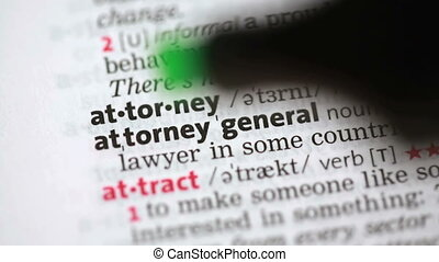 Definition of attorney highlighted in the dictionary