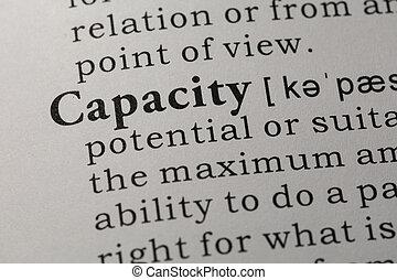 definition of capacity - Fake Dictionary, Dictionary ...