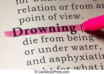 definition of drowning - Fake Dictionary, Dictionary...