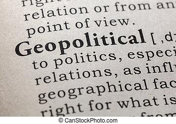 definition of geopolitical