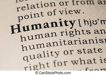definition of humanity - Fake Dictionary, Dictionary...