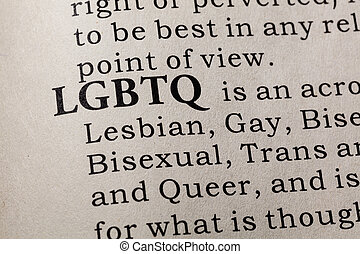 definition of LGBTQ - Fake Dictionary, Dictionary definition...