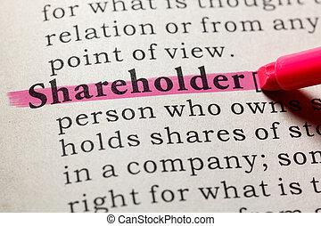definition of shareholder - Fake Dictionary, Dictionary...
