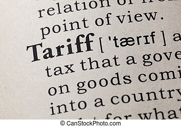 definition of tariff - Fake Dictionary, Dictionary ...