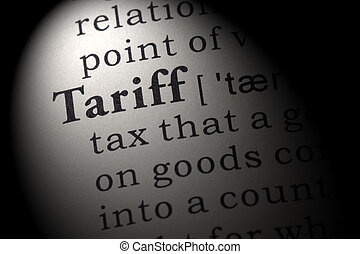 definition of tariff - Fake Dictionary, Dictionary...