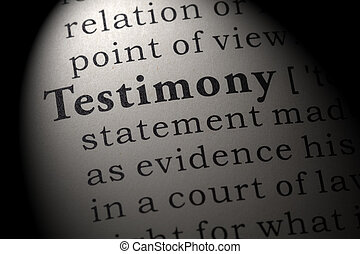 definition of testimony - Fake Dictionary, Dictionary ...