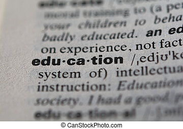 Definition of the word education