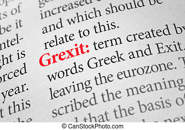 Definition of the word Grexit in a dictionary