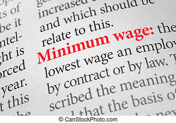 Definition of the word Minimum wage in a dictionary