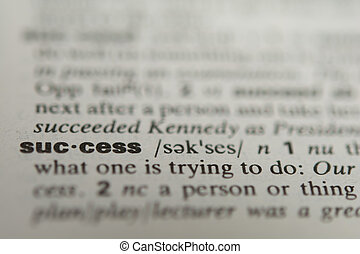 Definition of the word success