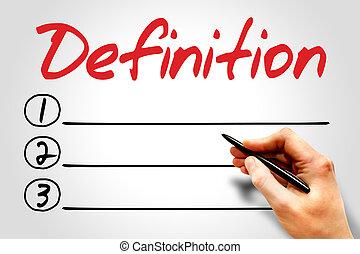 Definition blank list, business concept