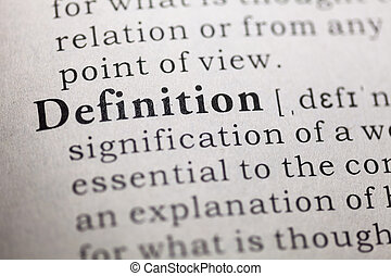 definition - Dictionary definition of the word definition.