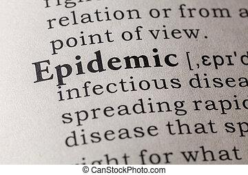 definizione, dizionario, epidemia