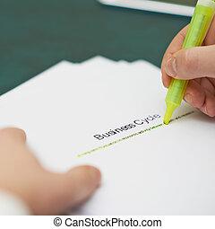 definizione, marcatura, parole, affari, ciclo