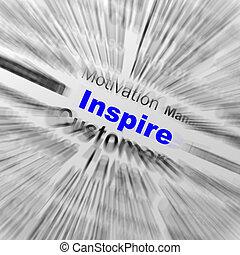 definizione, motivazione, ispirare, positività, sfera, mostre