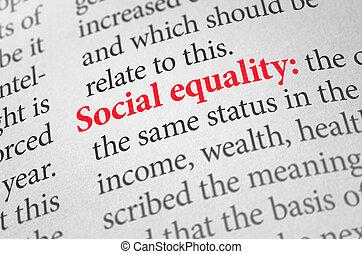 definizione, termine, uguaglianza, dizionario, sociale