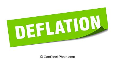 deflation sticker. square isolated label sign. peeler - ...