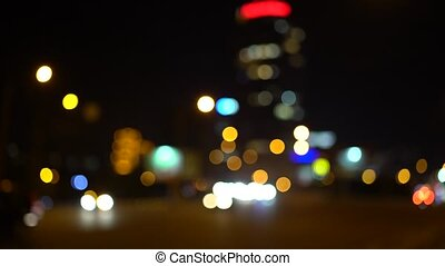 Defocus car headlights and tail lights - Defocus bright...