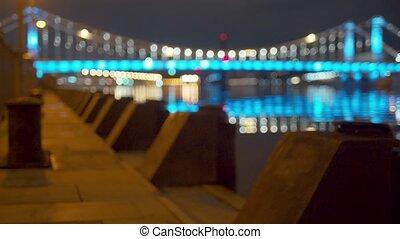 Defocus - focus lights on the bridge - Blurry lights on the...
