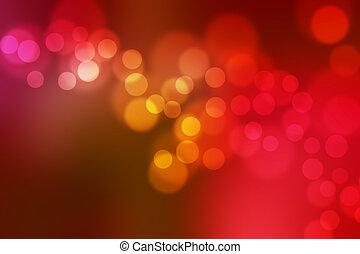 defocus, lumières, barbouillage