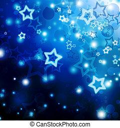 defocus, lumières, noël, étoiles