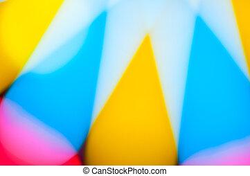 defocus of light background