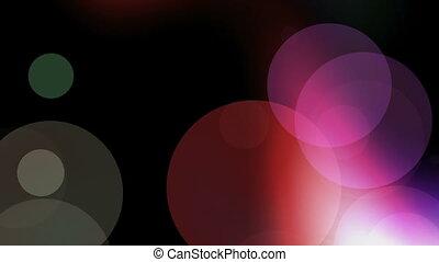 defocus, sokszínű, fény, karika
