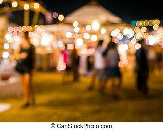 Defocus street festival light background