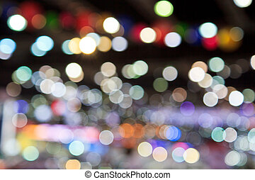 Defocused abstract background Lights at night.