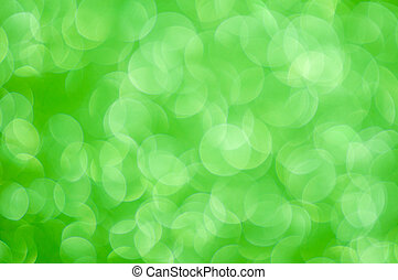defocused abstract green lights background