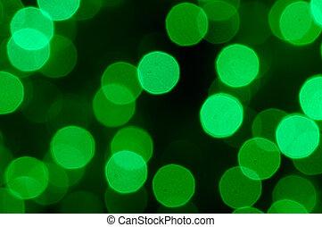 defocused, abstrakt, grün, weihnachten, hintergrund