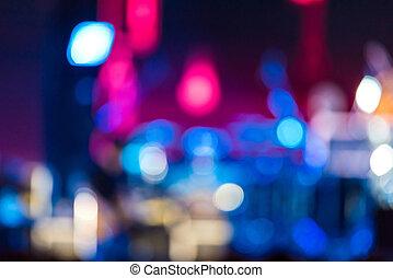 defocused, amusement, concert, verlichting, op stadium, vaag, disco, partij., blurry achtergrond