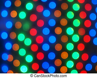 Defocused and blur image of multi-colored lights