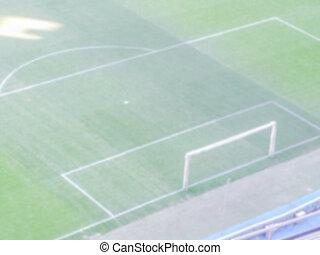 Defocused Background of a Football Stadium. Intentionally...