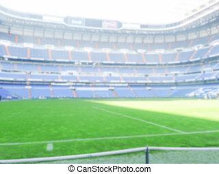 Defocused Background of a Football Stadium.