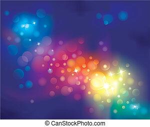 Rainbow defocused light Background. vector illustration layered.