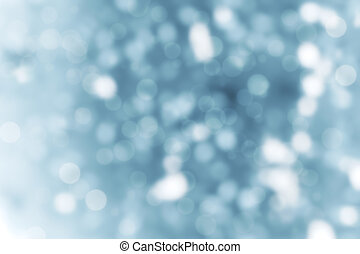 Defocused blue abstract christmas background