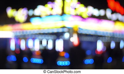 Defocused Bokeh Lights And Lens Flare, Abstract Light...