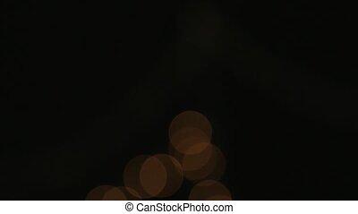 defocused bokeh lights. close up