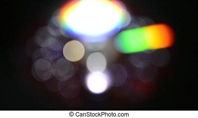 defocused bokeh lights - defocused white and rainbow bokeh...