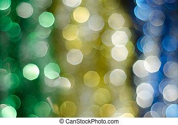 defocused, bokeh, luces