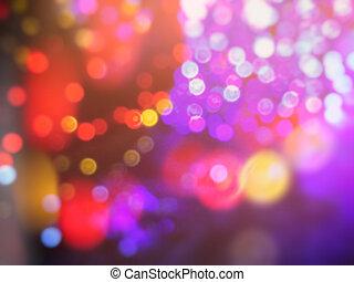 Defocused Christmas blur lights background