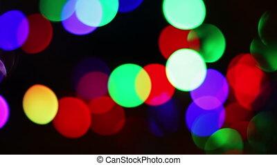 Defocused Christmas Bokeh Lights