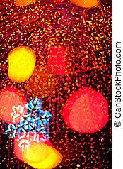 Defocused christmas light