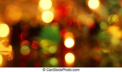 defocused christmas light loopable background