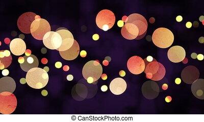 defocused christmas lights loopable background