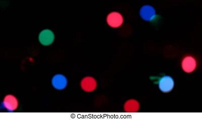 Defocused Christmas lights