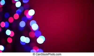 Defocused Christmas tree blinking lights