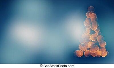Defocused christmas tree with colorful lights bokeh. 4k -...